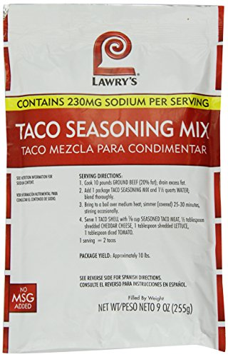 Lawrys Taco Seasoning Mix, 9 -Ounce Packages (Pack of 6) by Lawry's