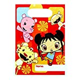 """Adorable Ni Hao Kai Lan Red Birthday Party Favours Plastic Loot Bags (8 Pack), Red, 7.5"""" x 6.7""""."""