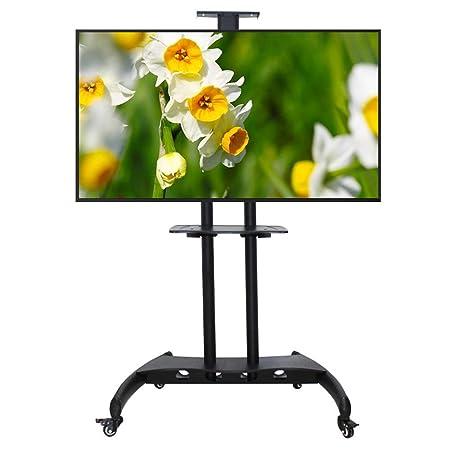 Mobile Porta Tv Plasma.Nobljx Mobile Porta Tv Con Vassoio In Acciaio E Ruote