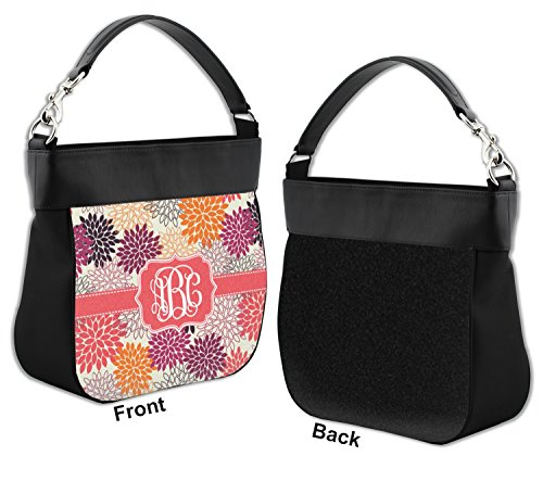 Purse Flower Hobo Genuine Personalized w Mums Front Trim Leather Ezwq4