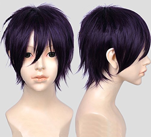 [Free Hair Cap + Anime Noragami Yato Yaboku Cosplay Wig Cos Party Hair] (Yato Cosplay Costume)