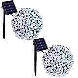 Binval Solar Fairy Christmas String Lights, 2-Pack 72ft 200LED, Ambiance Lighting for Outdoor, Patio, Lawn, Landscape, Fairy Garden, Home, Wedding, Holiday Party and Xmas Tree