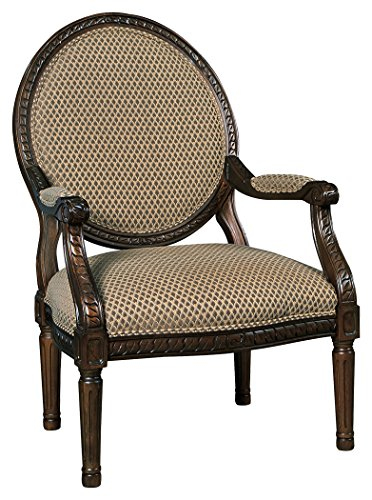 Classic Gold Tone Frame (Ashley Furniture Signature Design - Irwindale Accent Chair - Topaz Color with Goldtone Finish)