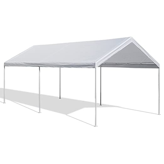 Amazon.com: Caravan Canopy 10 X 20 Feet Domain Carport, White: Garden U0026  Outdoor
