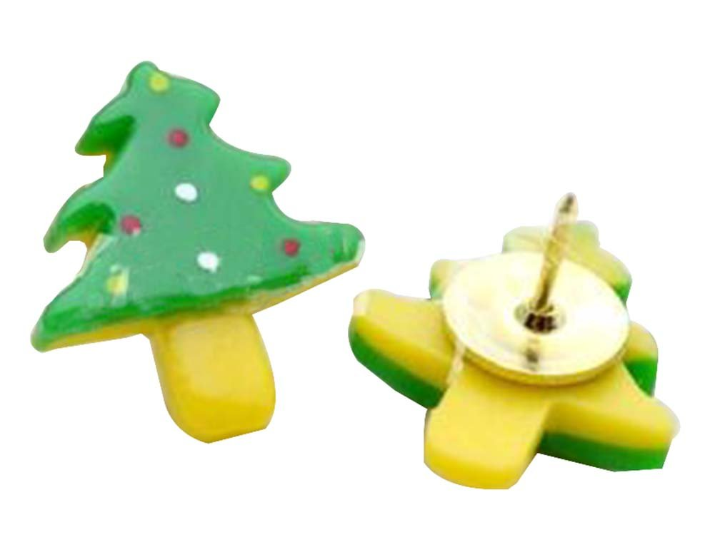 5 Pcs Cute Pushpin Push Pin Thumbtack Office Supplies [Pine]