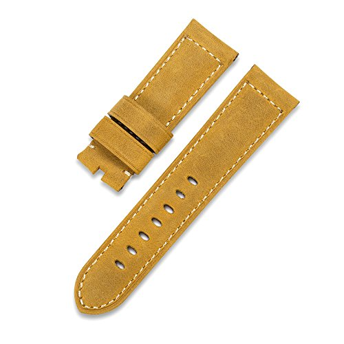 iStrap 24mm Assolutamente Calf Leather Padded Watch Band for Panerai Radiomir Luminor 1950 or Luminor
