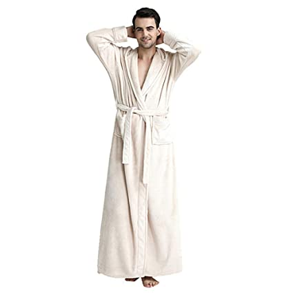 e73fb80160 Amazon.com  UHBGT Flannel Robe Bathrobes Pajamas