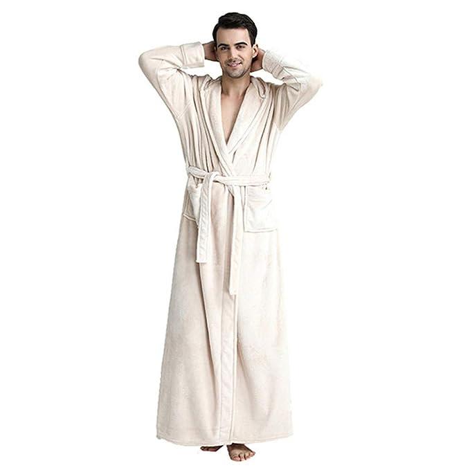 eefe24cc18 TiTa-Dong Luxurious Unisex Hooded Long Flannel Bathrobe Women Men Couple  Warm Sleepwear  Amazon.ca  Clothing   Accessories