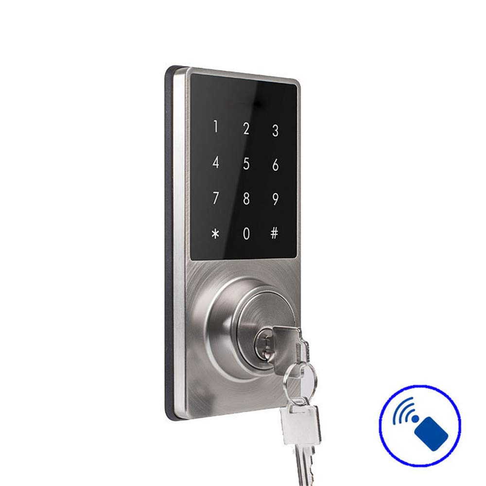 KNDJSPR Electronic Bluetooth Smart Door Lock, Automatic Password Locks, Remote Operation, 3 Ways to Unlock, USB Rechargeable, Record Can Be Checked, for Indoor Apartment