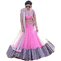 FebForrest Women'S Pink Net Attractative Workwear Type Free Size Lahenga Choli [SL 1027 [FF-A-SL1227]_Pink_Free Size]