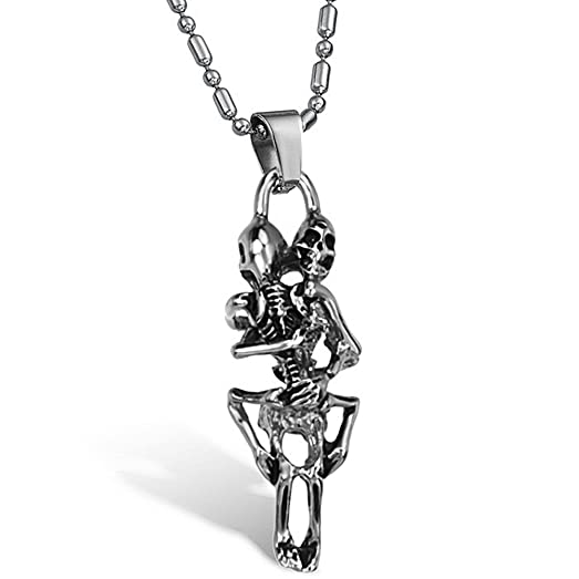 Titanium sex skeleton pendant with stainless steel chain mens titanium sex skeleton pendant with stainless steel chain mens necklace aloadofball Image collections