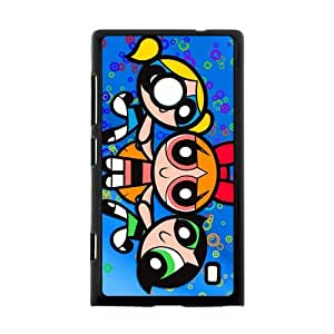 Animated TV series The Powerpuff Girls Bubbles,Blossom,Buttercup Personalized Nokia Lumia 520 Hard Plastic Black Case Cover Shell (HD image)
