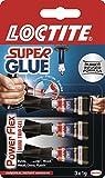 Loctite 1885734 Super Glue Mini Trio Power Flex Gel - Transparent, 3 x 1g