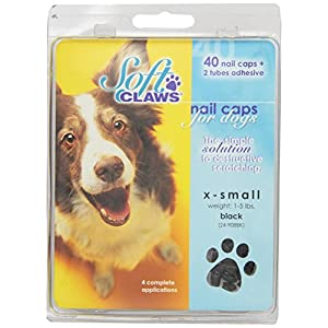 Soft Claws Canine Nail Caps - 40 Nail Caps Adhesive Dogs 17