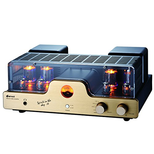 Dared I30 HIFI Audiophiles Professional Class A Vacuum Tube Integrated Amplifier USB-DAC/LINE input and Headphone Output,30W*2,with 6L6G(5881),12AX7(ECC83),12AU7(ECC82) Tube Dared