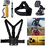 XCSOURCE® 6 in 1 Bundle Set Kit Suction Cup + Head Strap + Chest Strap + Yellow Hand Grip Floating Mount + Strap + Screws For Gopro Hero 1 2 3 3+ Camera OS60