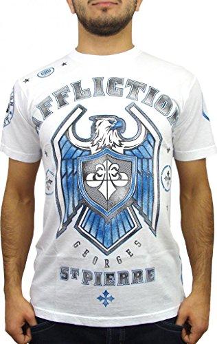 Affliction George St Pierre GSP Royal Guard UFC 167 Walk Out T-Shirt XL White