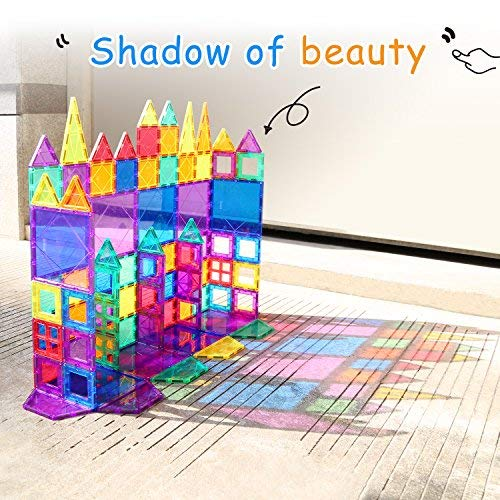 Children Hub 100pcs Magnetic Tiles Set - Educational 3D Magnet Building Blocks - Building Construction Toys for Kids - Upgraded Version with Strong Magnets - Creativity, Imagination, Inspiration by Children Hub (Image #3)