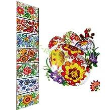 Heat Shrink Wrap Sleeve Decoration Easter 7 Egg Pysanka Flower Patterns