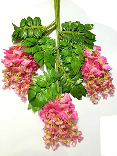 Happyi-12Pcs-Realistic-Romantic-Classic-Artificial-Wisteria-Vine-Ratta-Silk-Flowers-for-Home-Party-Wedding-Simulation-Decor