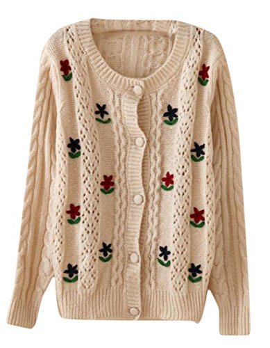 Crochet Flower Sweater - 7