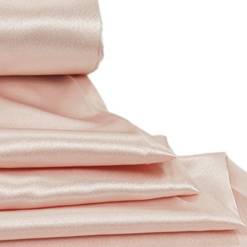 "Back Satin Crepe Fabric, 58"" Wide, Over 100 Yards In Stock - 1 Yard - Multiple Colors Available (Wholesale Crepe Back Satin)"