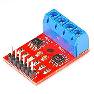 TOOGOO(R) 2-way Motor Drive H bridge motor drive module for Arduino compatible L9110 stepper motor Red