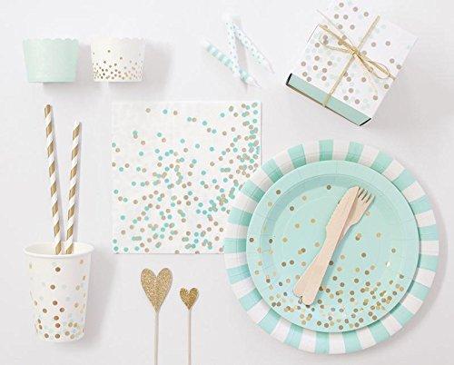 Pack of 6 Paper Eskimo Cupcake Box Mint Confetti