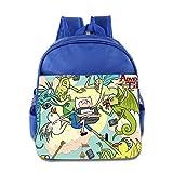 Toddler Kids Adventure Time School Backpack Cute Baby Boys Girls School Bag RoyalBlue