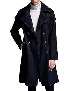DAFREW factory Manteau en Laine pour Homme, Trench Coat en