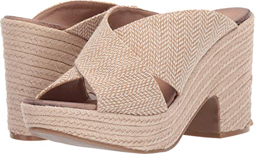 Chinese Laundry Womens Quay Wedge Natural Woven Sandal - 7