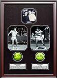John McEnroe and Bjorn Borg - Rivalry - Autographed Dual Tennis Ball Shadowbox