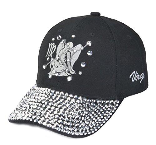 TOP HEADWEAR Zodiac Sign Bejeweled Baseball Cap - -