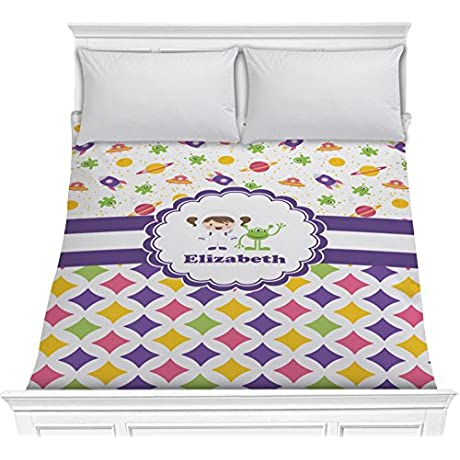 Girl S Space Geometric Print Comforter Full Queen Personalized
