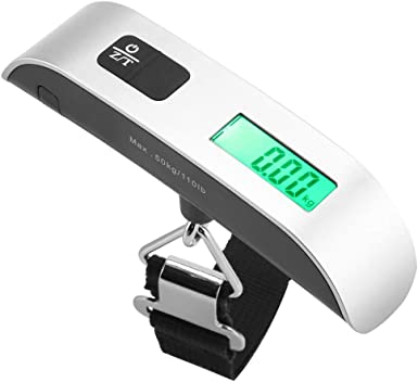 LCD Backlight 110lb//50kg Fosmon Digital Hanging Luggage Scale Tare Function