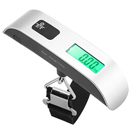 f6a8be32fb6c Hztyyier 110lb/50kg Mini Digital Luggage Scale with Temperature ...