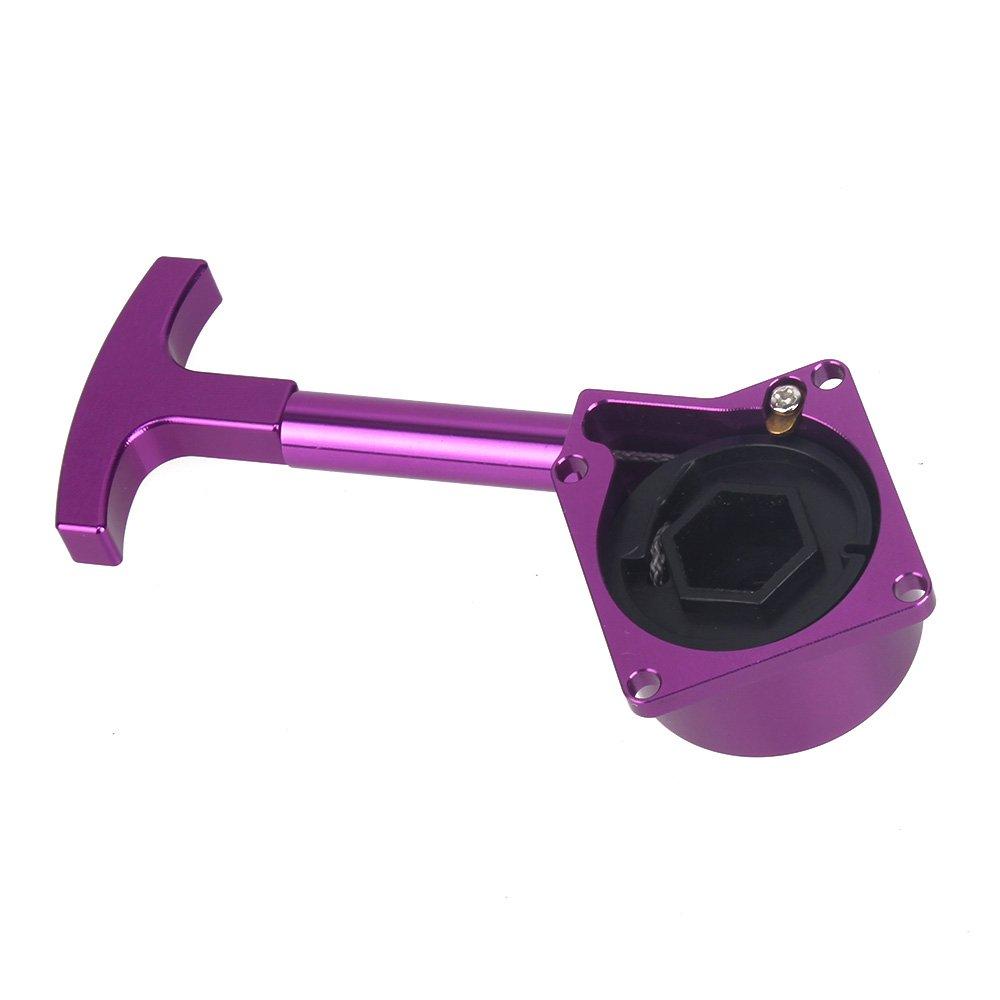 Bqlzr Purple R020 18 Rc Nitro Engine Alloy Pull Starter Recoil Start For Model Car Universal Upgrade Parts