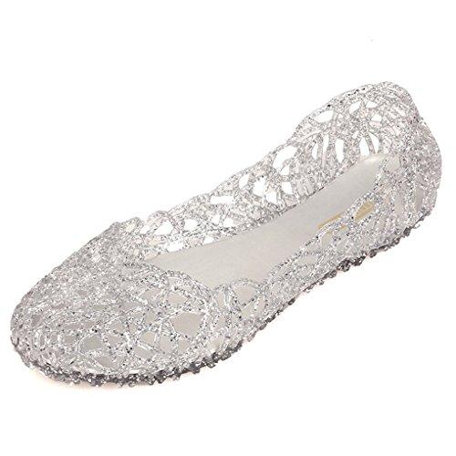 Sandals Nido Ocasionales De De Party Casual Plata Sandalias Dulce Verano Sexy Pájaro Mujer Gelatina Sandalias Zapatos Moda Minetom Hueco 1qxEz1