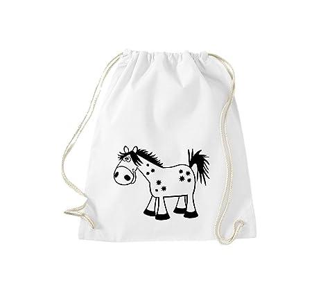 Camiseta stown Turn Bolsa Animales caballo pony, Weiss ...