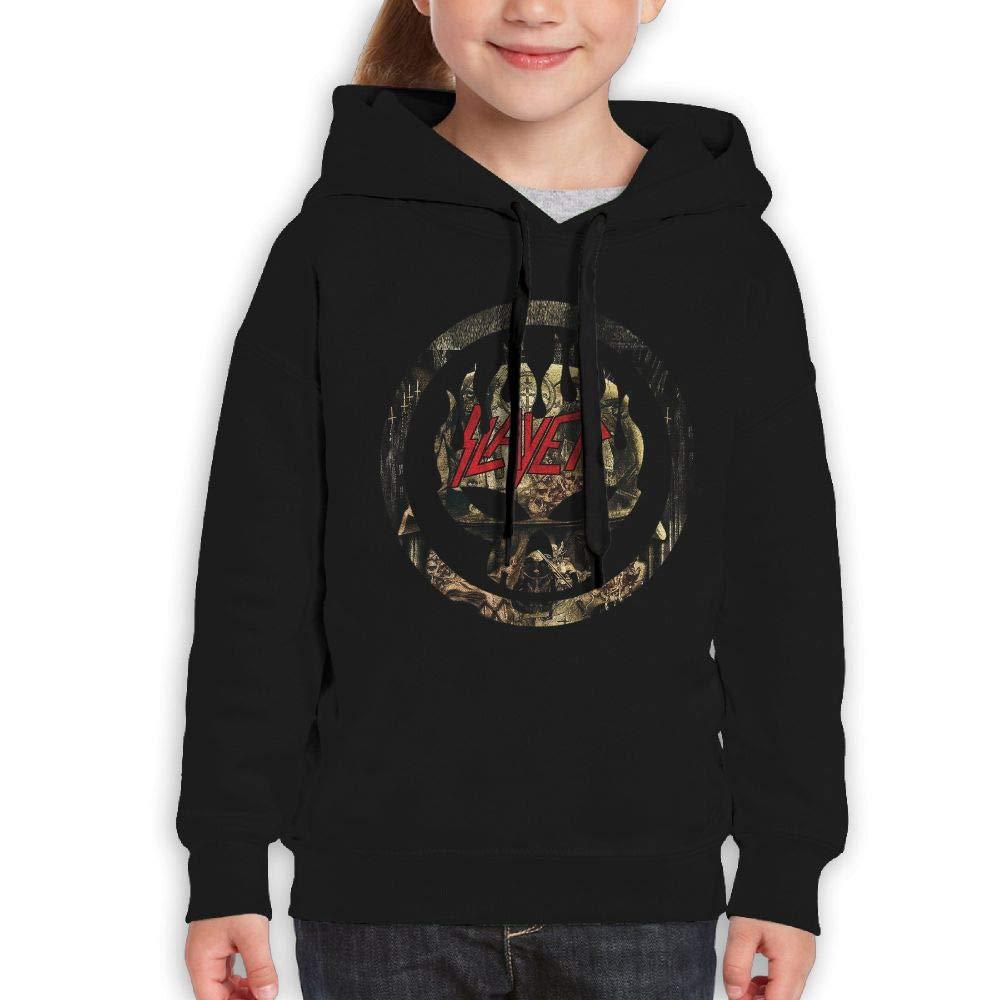 Guiping Slayer Bleeding SKUL Boys and Girls Pullover Hooded Sweatshirt Black L