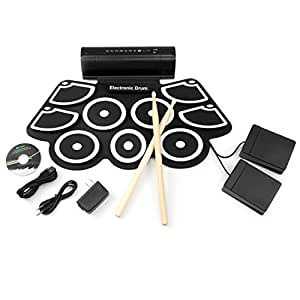 best choice products roll up foldable electronic drum set w usb midi speakers foot. Black Bedroom Furniture Sets. Home Design Ideas