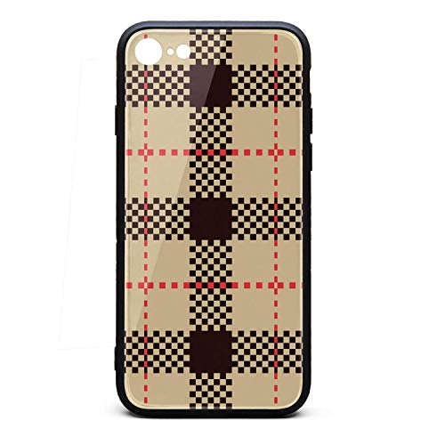 Phone Case for iPhone 6Plus/6SPlus Lattice Yellow Black British Plaid TPU Full Body Protection Perfectly fit Anti-Scratch Fashionable Glossy Anti Slip Thin Shockproof Soft Case