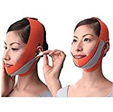 Facial Mask To Reduce Double Chin - KOLIGHT® Anti Wrinkle Half Face Slimming Cheek Mask Lift V Face Line Slim up Belt Strap(Orange)
