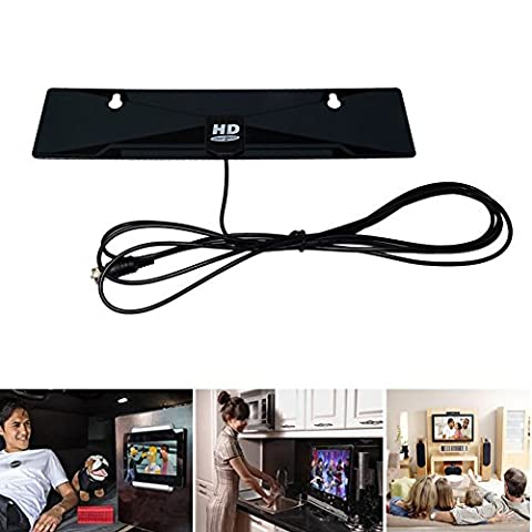 Digital Indoor TV Antenna High Gain HDTV DTV Box Ready HD VHF UHF Flat Design (Zune Home A V Pack)