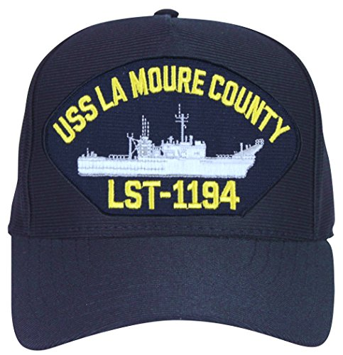 (USS La Moure County LST-1194 Ships Ball Cap with Custom Back Text)