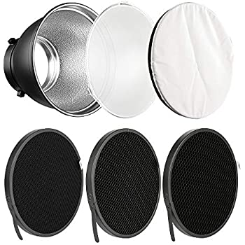 Neewer 16 inches//41 Centimeters Aluminum Standard Reflector Beauty Dish with White Diffuser Sock for Bowens Mount Studio Strobe Flash Light Like Neewer Vision 4 VC-400HS VC-300HH VC-300HHLR VE-300