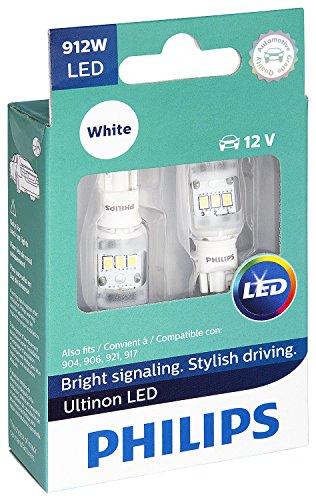 Philips 912 Ultinon LED Bulb (White), 2 Pack