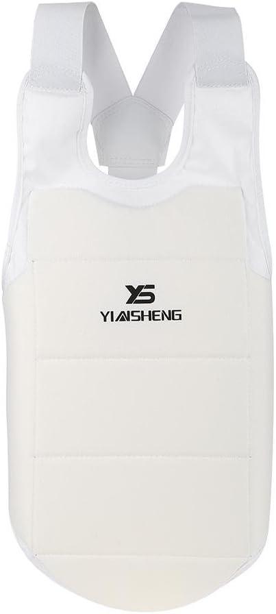 Karate 胸ガードプロテクター 大人 子供 空手 テコンドー トレーニング 総合格闘技 格闘技 胸ガード ベスト ボクシング 空手 ボディプロテクター 胸プロテクター (XS-XL)  Medium