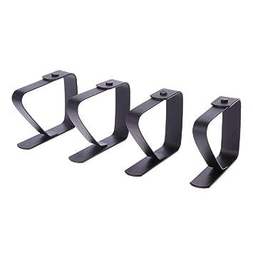 Lorcoo 4pcs Clips elásticas de Mantel de Tela Acero Inoxidable de Pinza de Fijo para Picnic