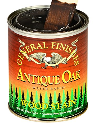 (General Finishes Water Based Wood Stain, 1 Quart, Antique Oak)